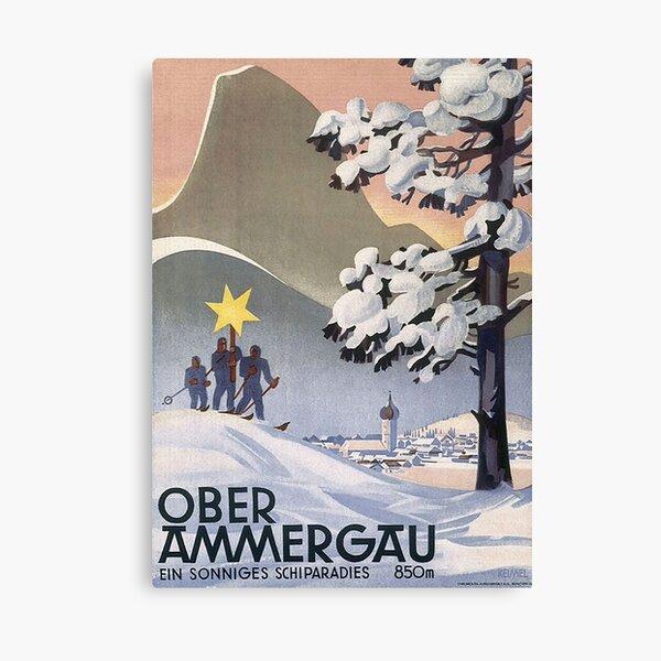 Oberammergau un paraíso de esquí soleado Lienzo