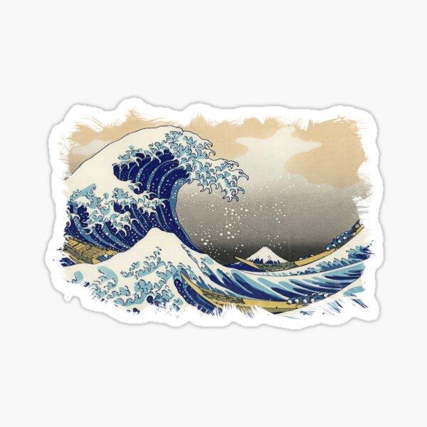 ✪ The Great Wave Off Kanagawa ✪ Retouched Fan Art Historic Japanese Masterpiece Sticker