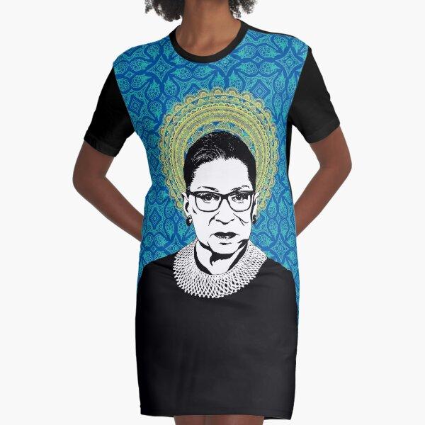 Ruth Bader Ginsburg Feminist Icon RBG Graphic T-Shirt Dress