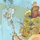 snails ascending by Amanda Crawford