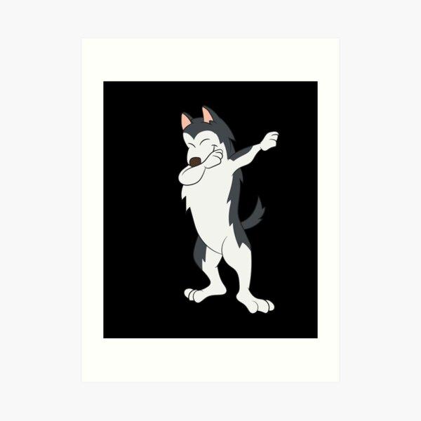 Huskey / Husky Dab Art Print