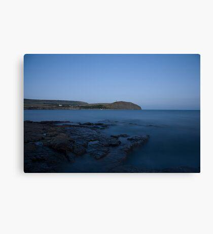 Kimmeridge bay at dusk in Dorset Canvas Print