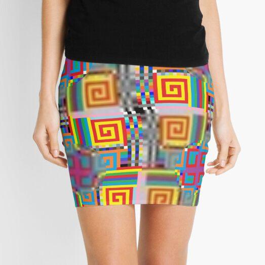 OpArt, Visual Illusion, VisualArt, OpticalArt, #OpticalIllusion, #OpticalIllusionArt, #OpticalArtIllusion, #PsyhodelicArt Mini Skirt