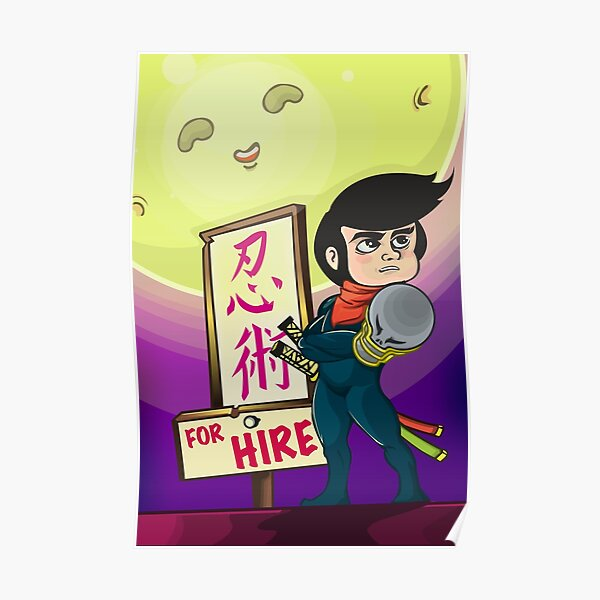 Ninja For Hire: Rooftop Poster