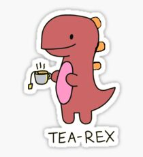 Tea Rex Sticker