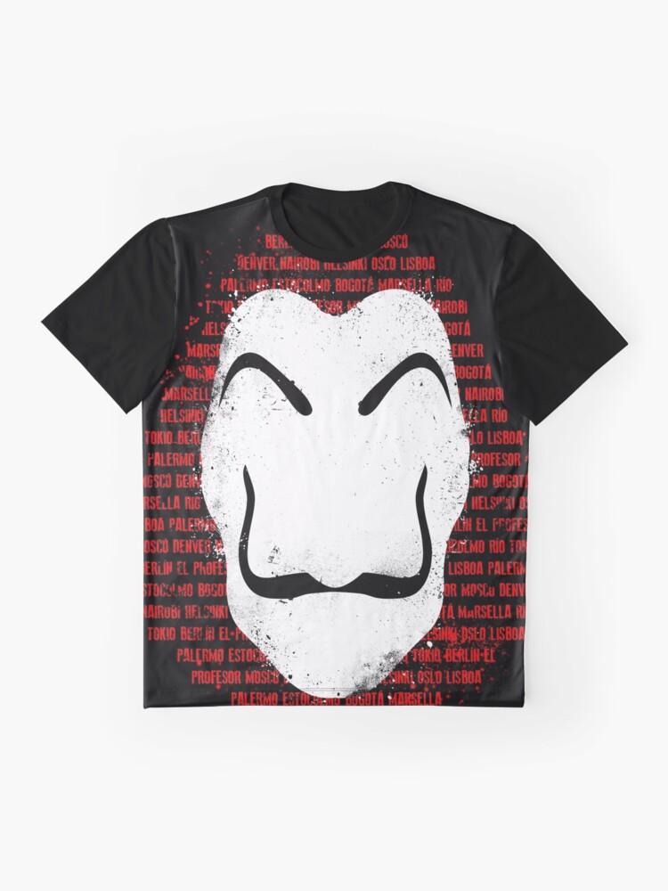 Vista alternativa de Camiseta gráfica The mask of names
