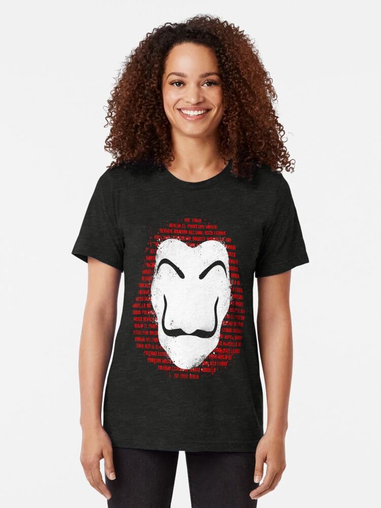 Vista alternativa de Camiseta de tejido mixto The mask of names