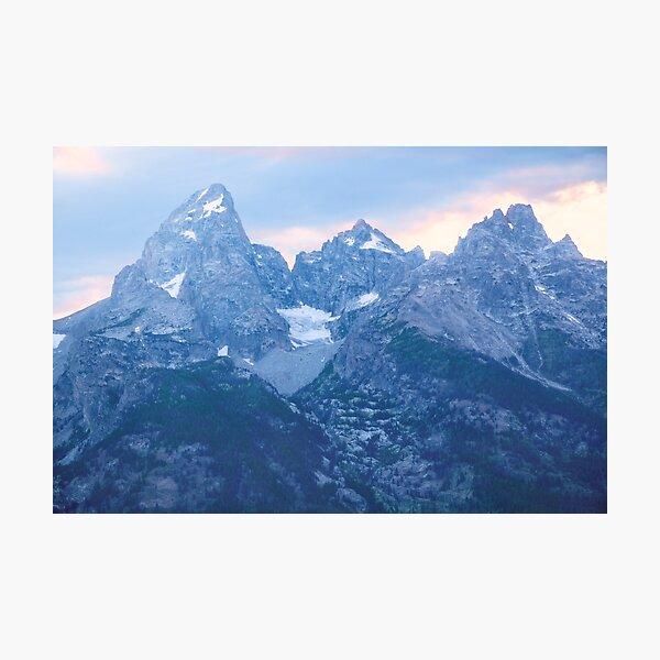 Grand Tetons Glacier Sunset Photographic Print