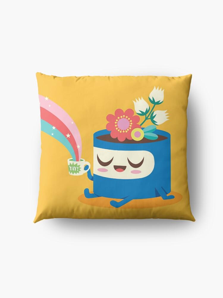 Alternate view of Flower Pot Head and Magic Tea Floor Pillow