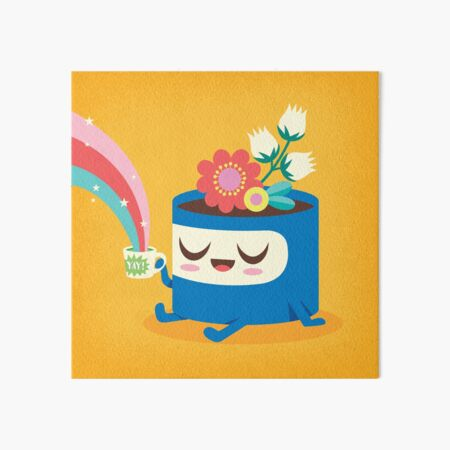 Flower Pot Head and Magic Tea Art Board Print