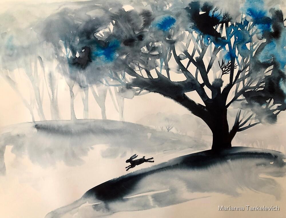 Landschaft mit Kaninchen von Marianna Tankelevich