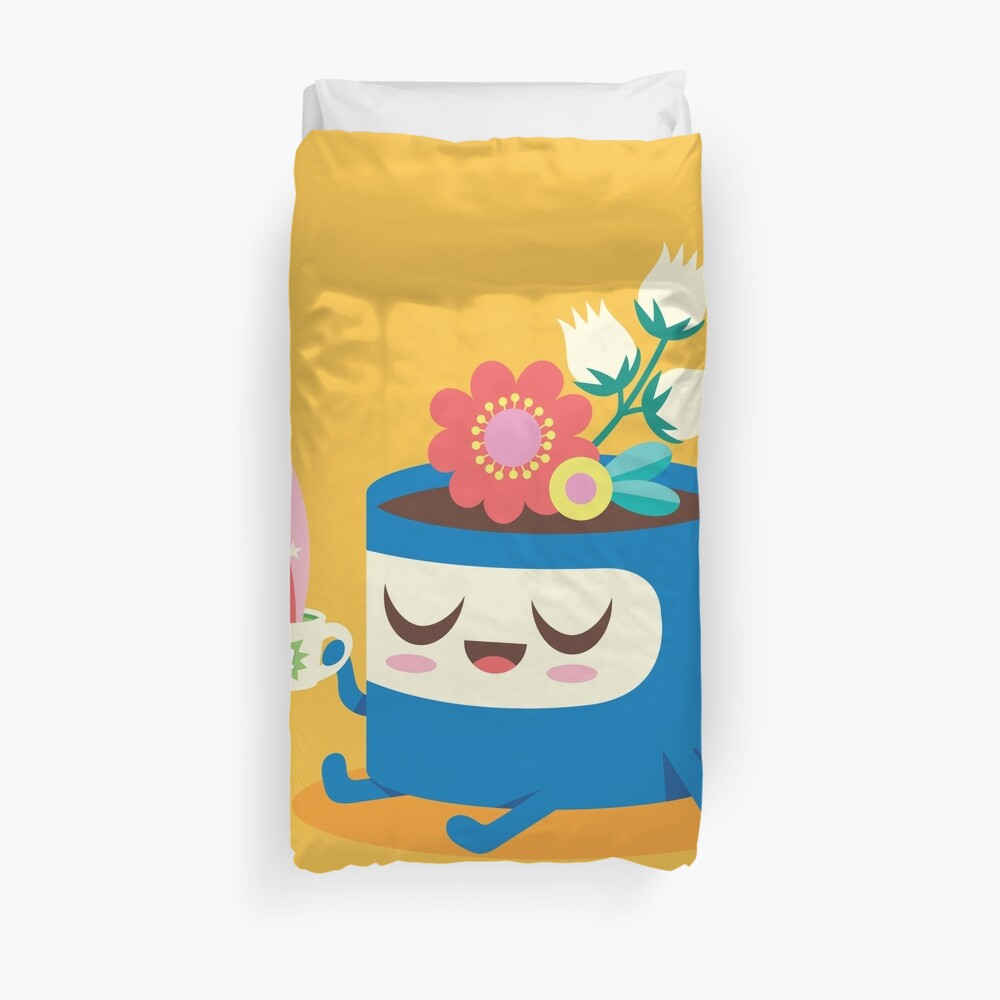 Flower Pot Head and Magic Tea Duvet Cover