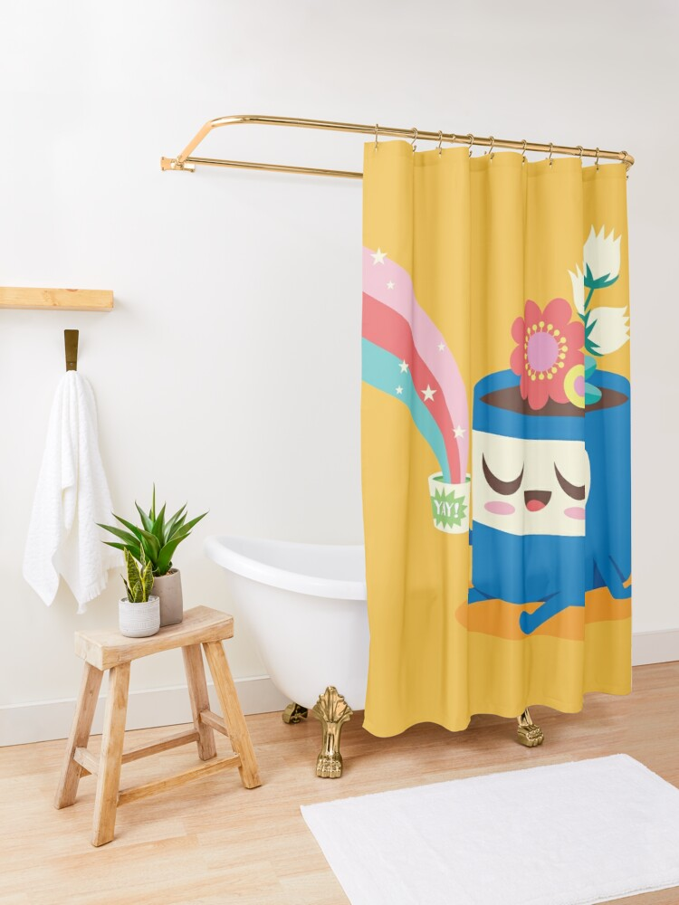Alternate view of Flower Pot Head and Magic Tea Shower Curtain