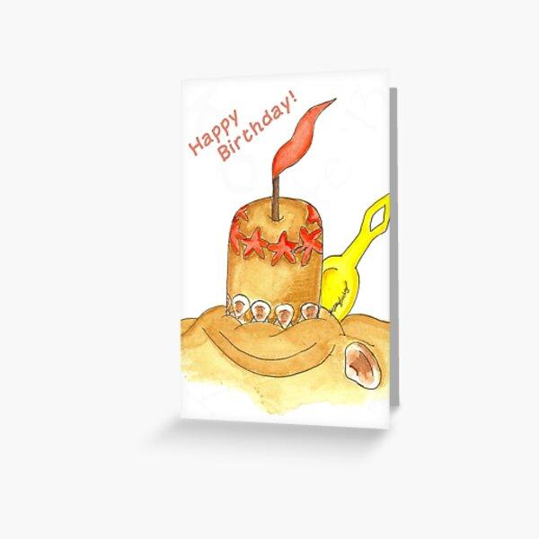 Sandcake Greeting Card