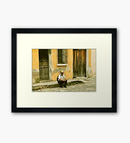 "Chapin (slang for ""Guatemalan man"") Framed Print"