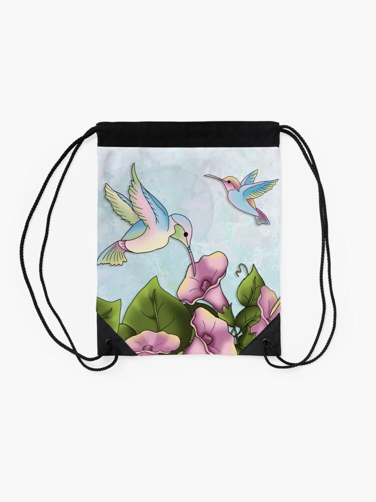 Alternate view of Hummingbird Flutterings Drawstring Bag