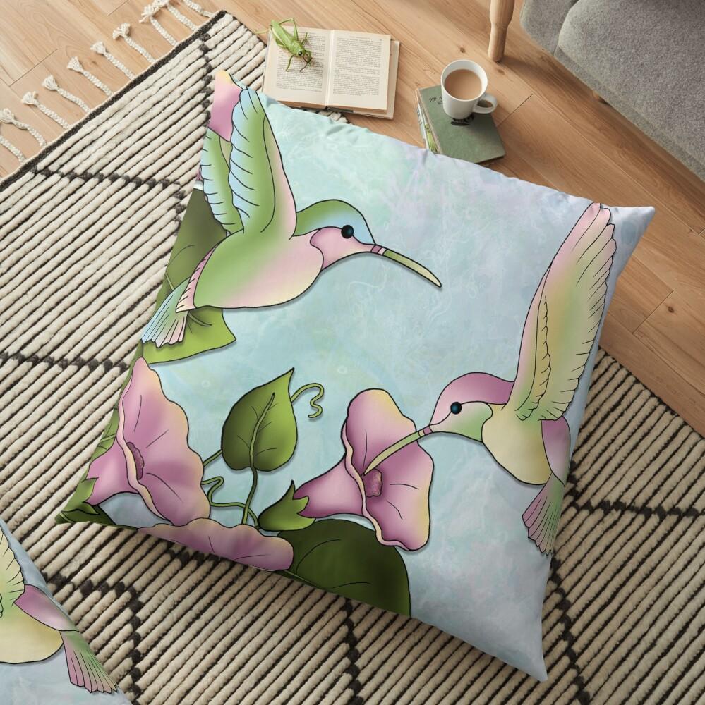 Hummingbird Flutterings Floor Pillow