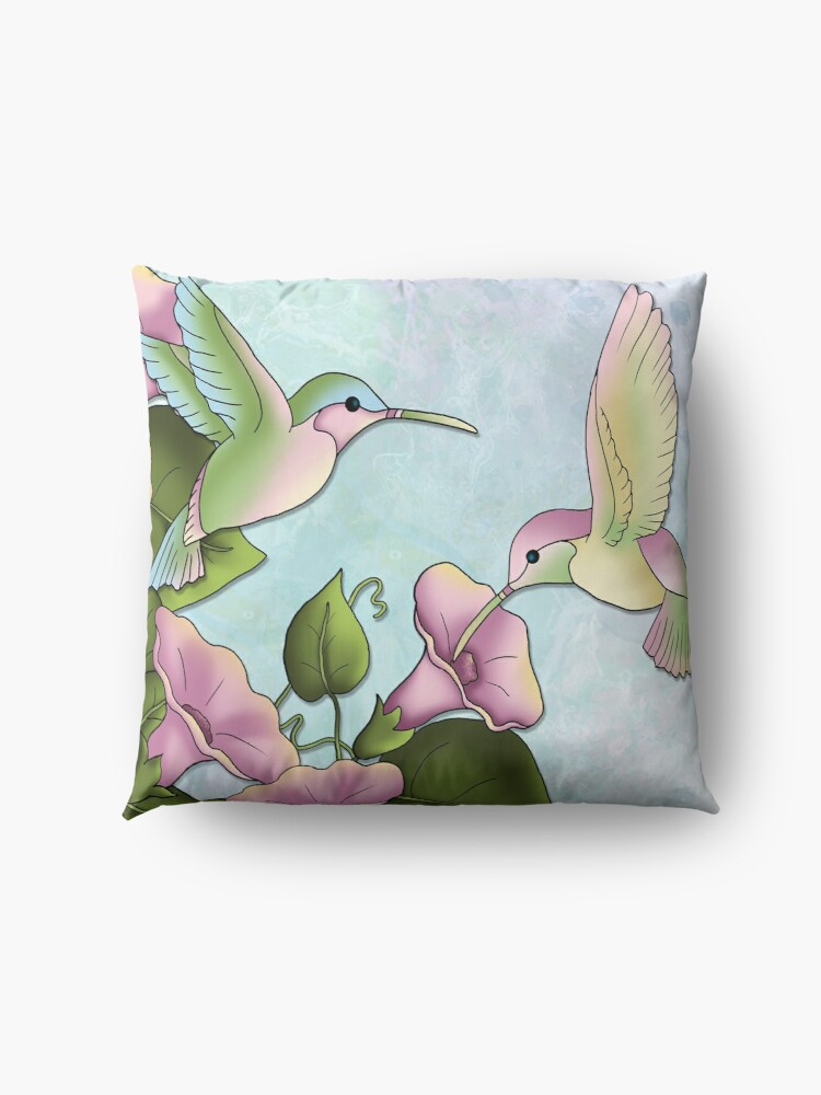 Alternate view of Hummingbird Flutterings Floor Pillow