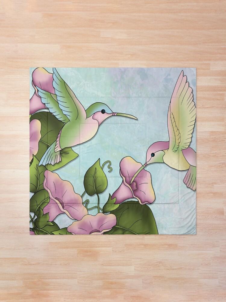 Alternate view of Hummingbird Flutterings Comforter