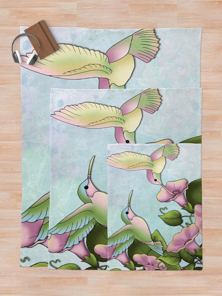 Alternate view of Hummingbird Flutterings Throw Blanket