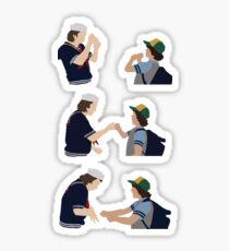 Steve and Dustin Handshake Sticker