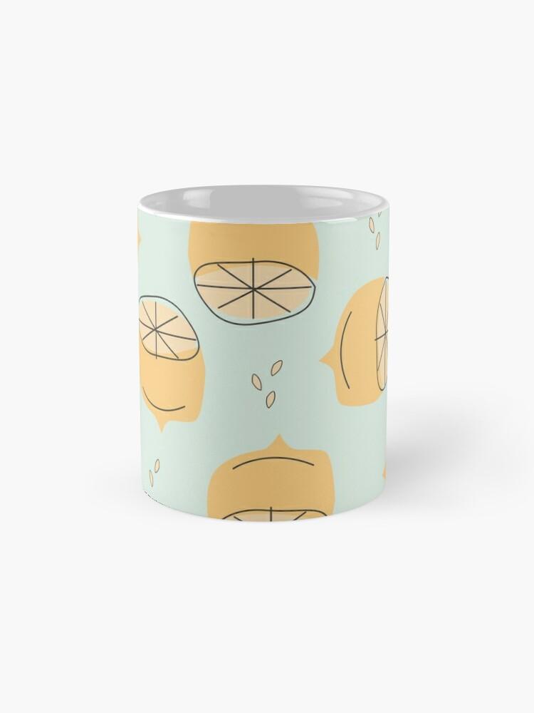 Alternate view of Lemon Pattern Illustration Mug