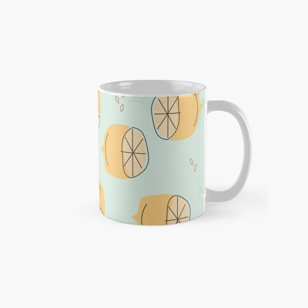 Lemon Pattern Illustration Mug