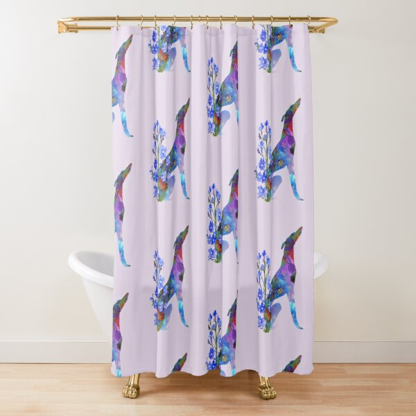 Galgo de las Flores Shower Curtain