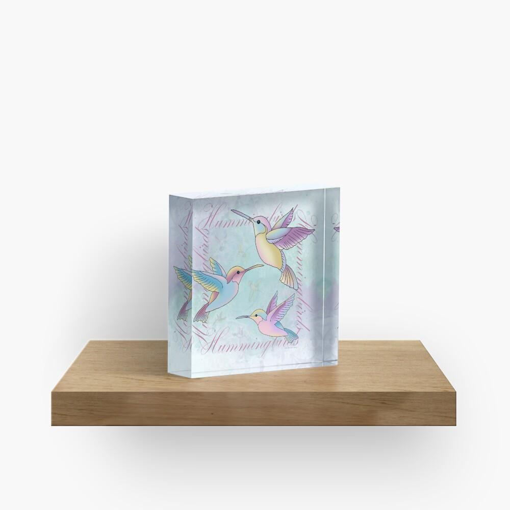 Hummingbird Flutterings Acrylic Block