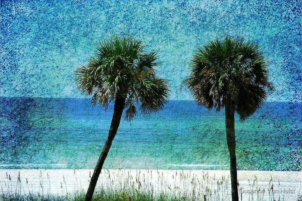 Palm trees at Gulf Coast  by Susanne Van Hulst