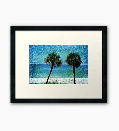 Palm trees at Gulf Coast  Framed Print