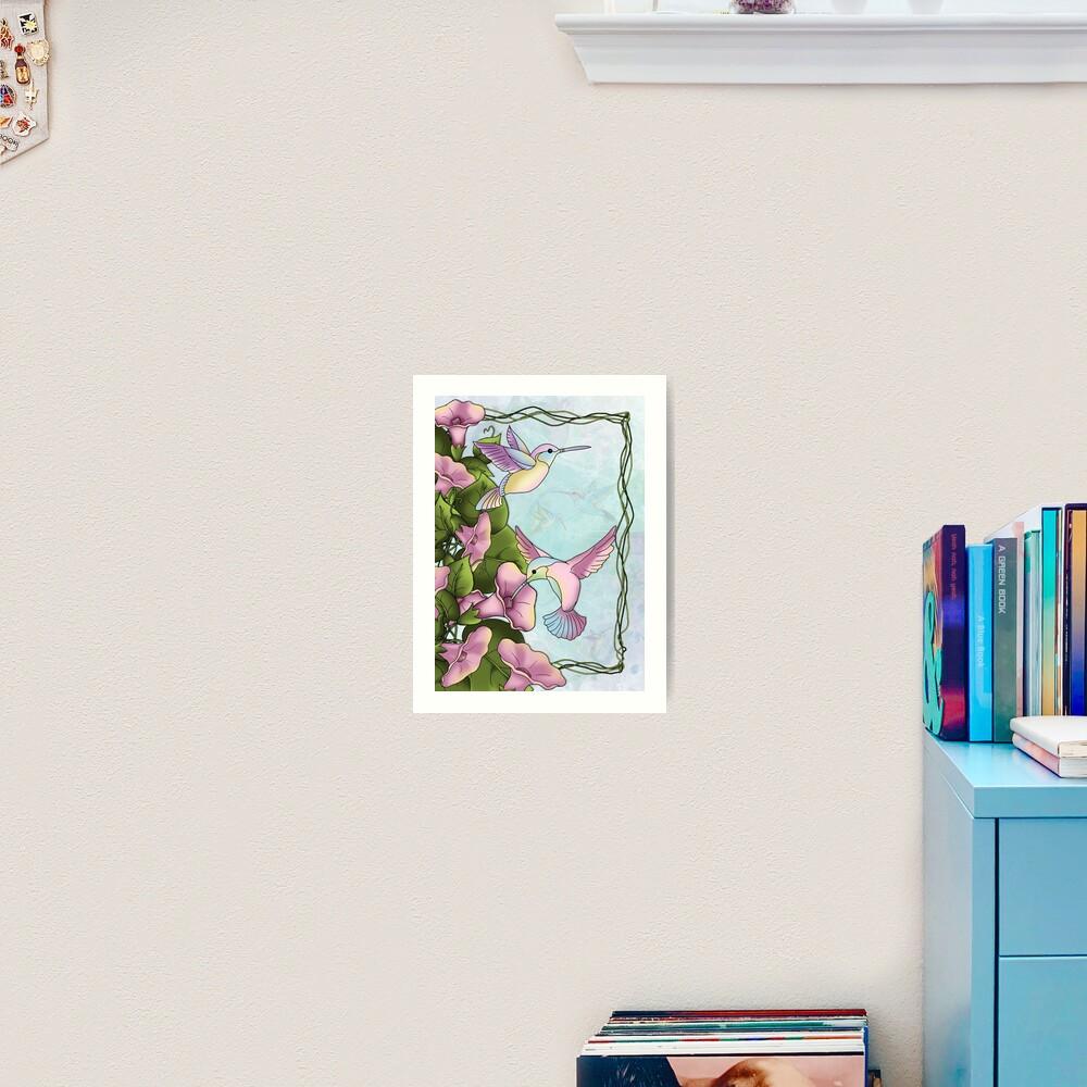 Hummingbird Flutterings Art Print