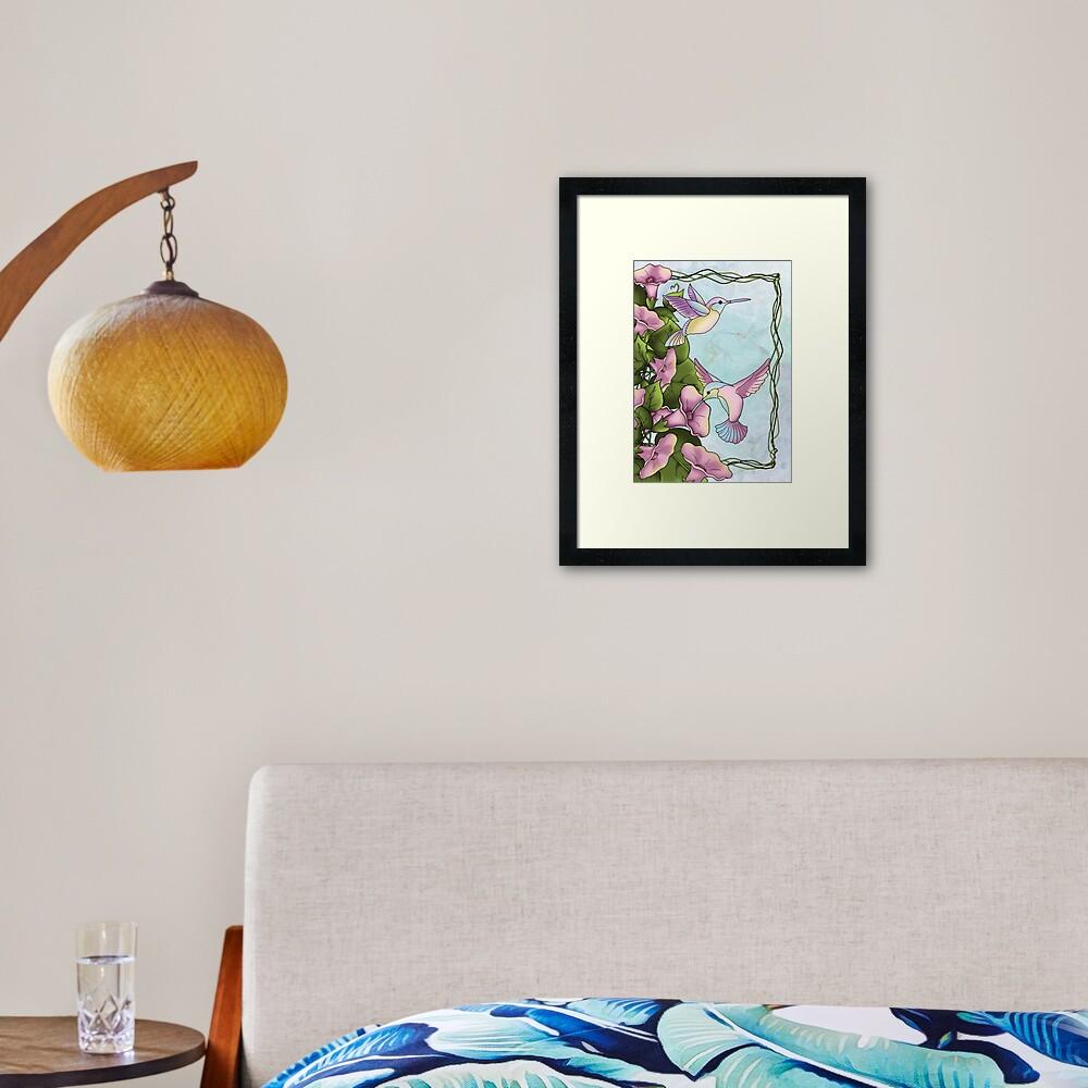Hummingbird Flutterings Framed Art Print