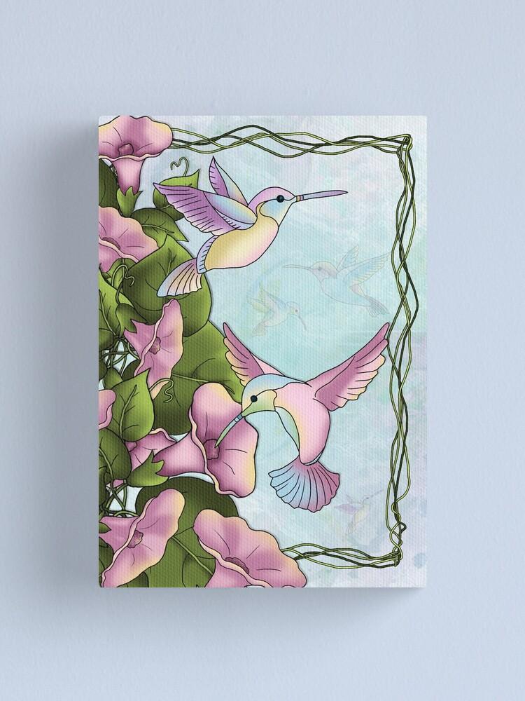 Alternate view of Hummingbird Flutterings Canvas Print