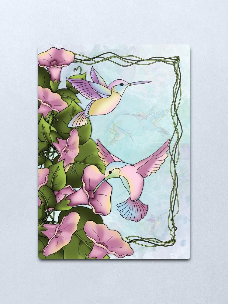 Alternate view of Hummingbird Flutterings Metal Print