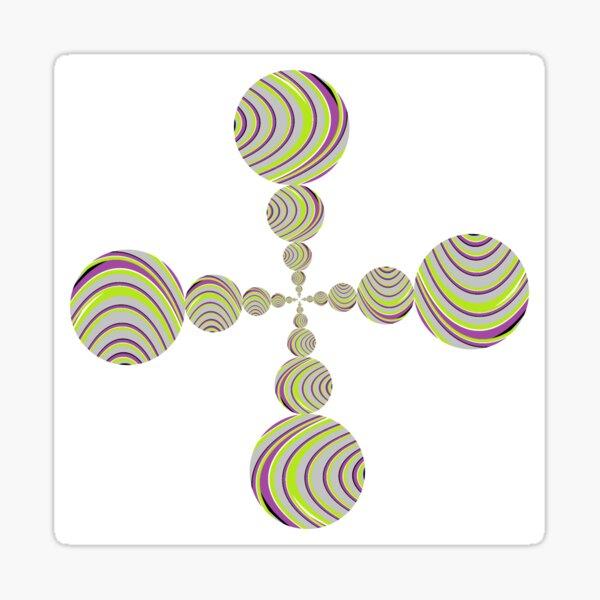 OpArt, Visual Illusion, VisualArt, OpticalArt, #OpticalIllusion, #OpticalIllusionArt, #OpticalArtIllusion, #PsyhodelicArt Sticker
