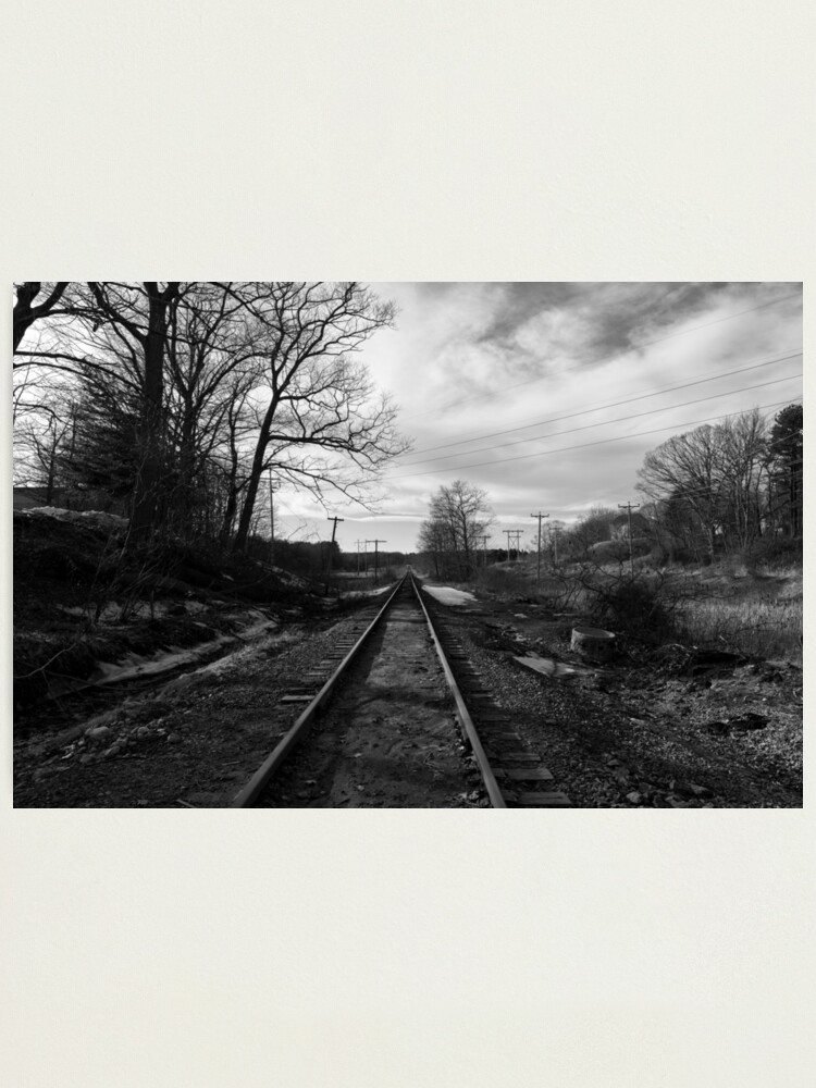Alternate view of Fore River Rails Photographic Print