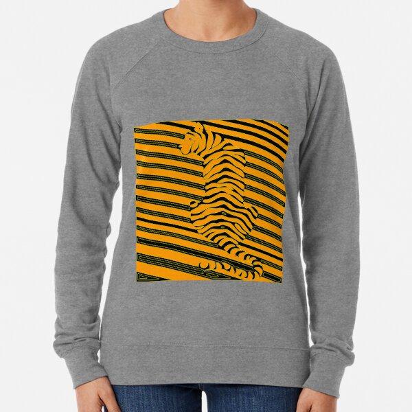 Op art maze tiger Lightweight Sweatshirt