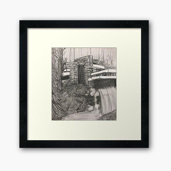 Falling Water- Frank Lloyd Wright Framed Art Print