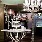 Candelabra, Crystal, & Silver Setting by phil decocco
