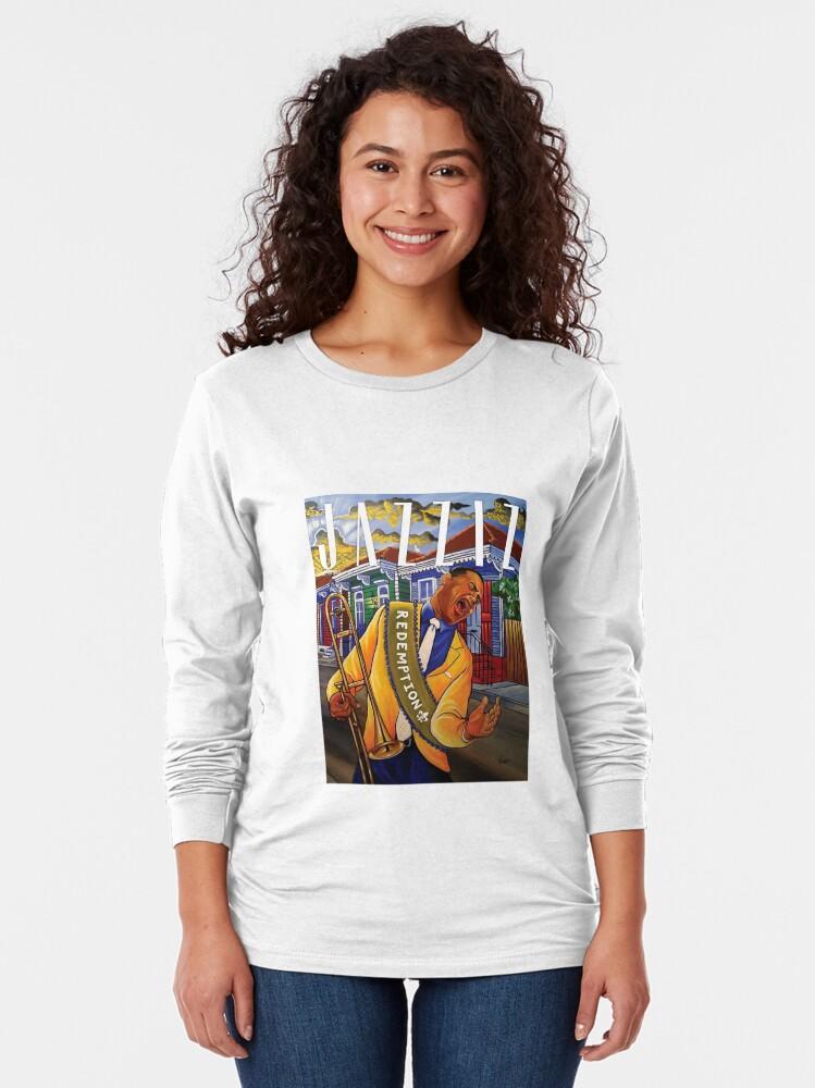 "Alternate view of JAZZIZ ""Redemption"" Long Sleeve T-Shirt"