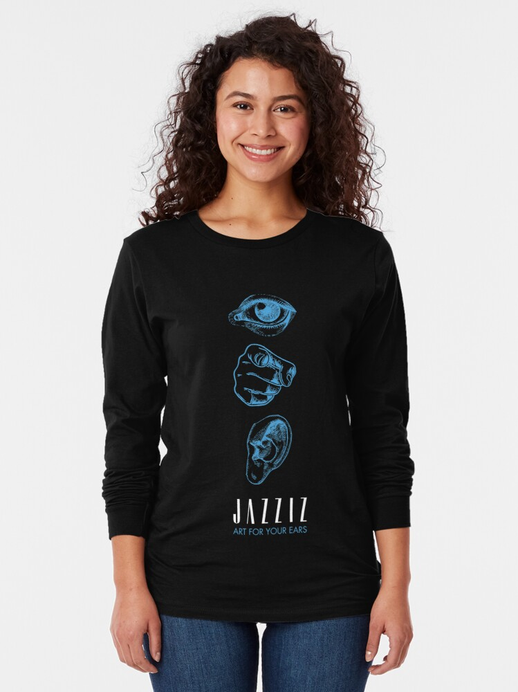 "Alternate view of JAZZIZ ""Art For Your Ears"" Long Sleeve T-Shirt"
