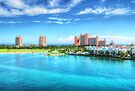 Atlantis Towers and Harbor Village in Paradise Island, Nassau, The Bahamas by Jeremy Lavender Photography