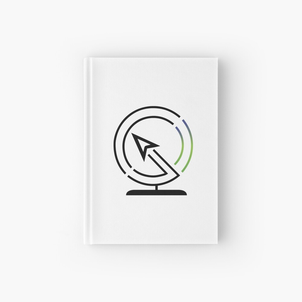 The Lost Geographer Logo Hardcover Journal