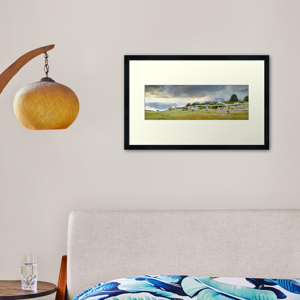 Stormy Evening at Craigs Hut, Mt Stirling, Victoria, Australia Framed Art Print