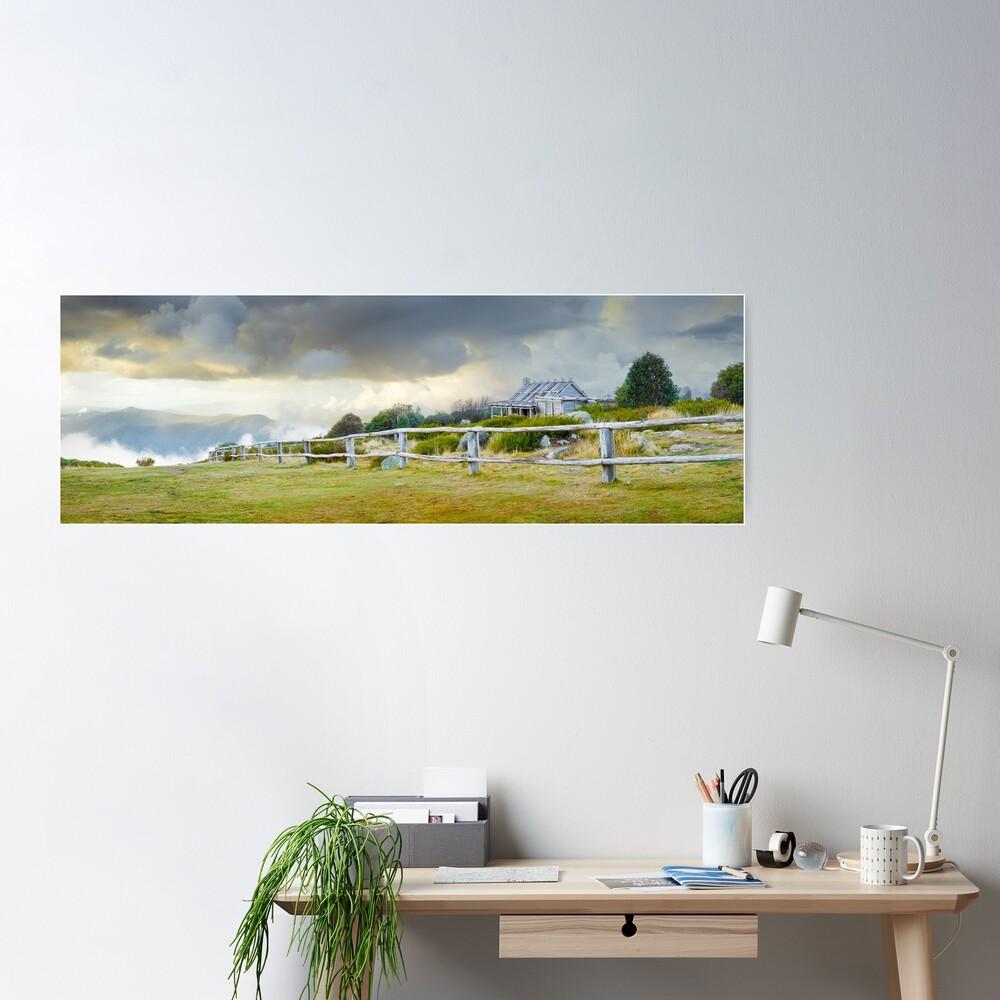 Stormy Evening at Craigs Hut, Mt Stirling, Victoria, Australia Poster