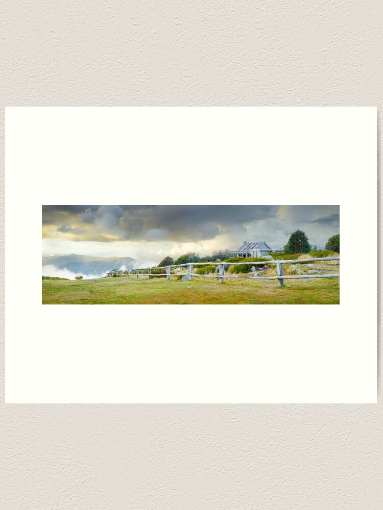 Alternate view of Stormy Evening at Craigs Hut, Mt Stirling, Victoria, Australia Art Print