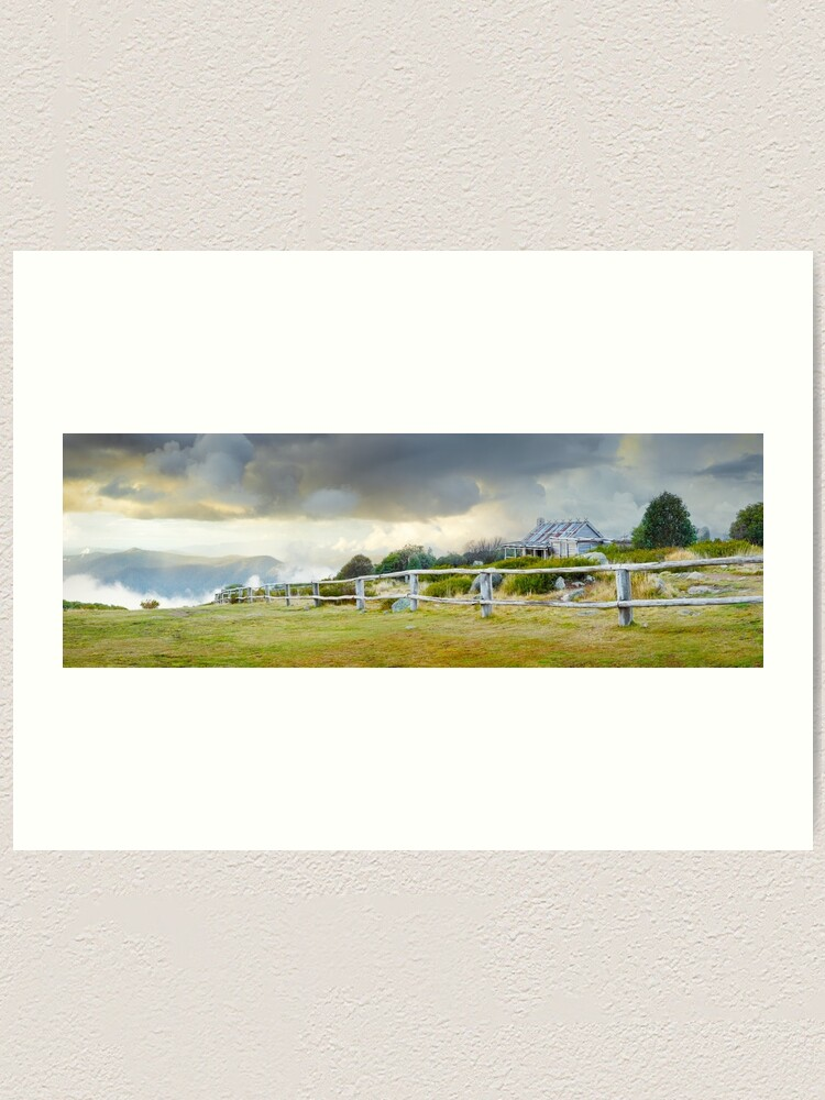 Alternate view of Stormy Evening at Craigs Hut, Mt Stirling, Victoria, Australia Art Print