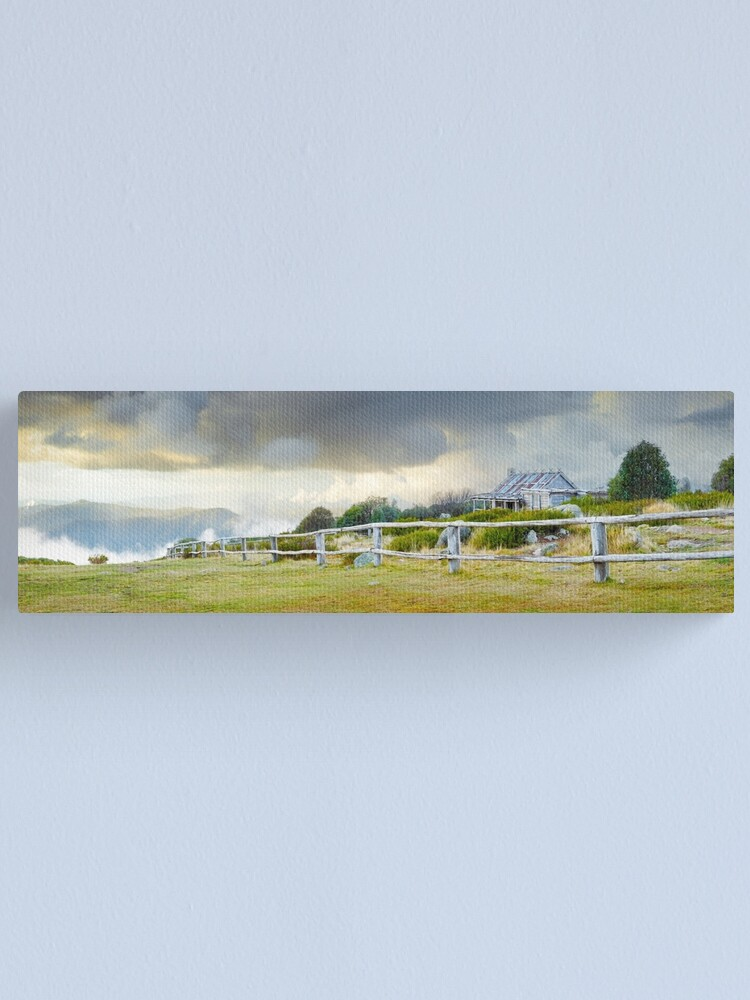 Alternate view of Stormy Evening at Craigs Hut, Mt Stirling, Victoria, Australia Canvas Print