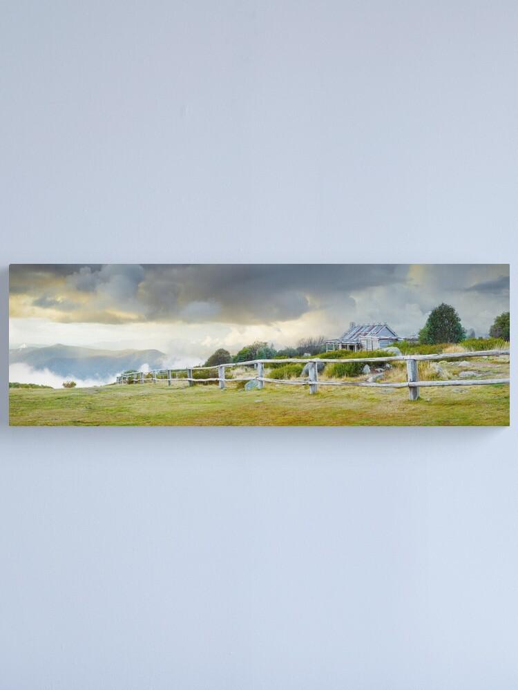 Alternate view of Stormy Evening at Craigs Hut, Mt Stirling, Victoria, Australia Canvas Print